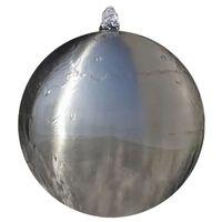 vidaXL Hagefontene med lysdioder sfærisk rustfritt stål 40 cm