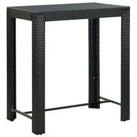 vidaXL Utendørs barbord svart 100x60,5x110,5 cm polyrotting