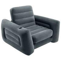 Intex Oppblåsbar stol 117x224x66 cm mørkegrå