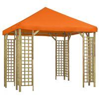 vidaXL Paviljong 3x3 m oransje