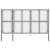 vidaXL Hageport stål 175x395 cm antrasitt