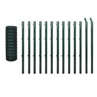 vidaXL Euro gjerde stål 25x1,5 m grønn