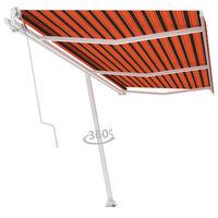 vidaXL Frittstående automatisk markise 600x300 cm oransje og brun