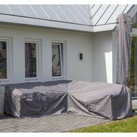 Madison Utendørs salongtrekksett 235x235x70 cm grå