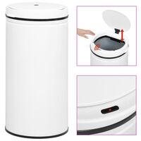 vidaXL Automatisk søppelbøtte med sensor 70 L karbonstål hvit