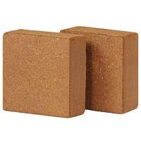 vidaXL Kokosblokker 2 stk 5 g 30x30x10 cm