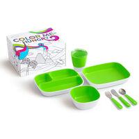 Munchkin Middagssett 7 deler Color Me Hungry grønn