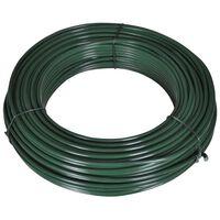 vidaXL Gjerdetråd 55 m 2,1/3,1 mm stål grønn