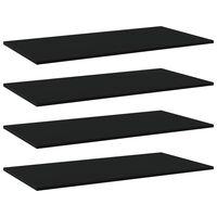 vidaXL Hylleplater 4 stk svart 80x30x1,5 cm sponplate