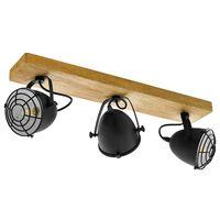 EGLO Spotlys Gatebeck 3 lamper stål og tre svart