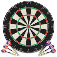 vidaXL Profesjonell dartskive sisal med 6 darts
