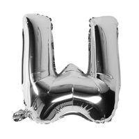 Bokstavballong 53 cm, bokstav W - sølv