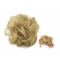 Scrunchie med syntetisk hår - Lysebrun