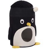 Kerbl Kattehule Pingu 50 cm svart og hvit