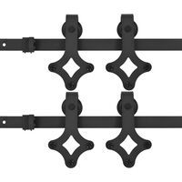 vidaXL Utstyr for skyvedør 2 stk 183 cm stål svart