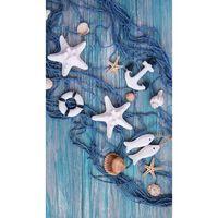 Good Morning Strandhåndkle KEVIN 100x180cm blå