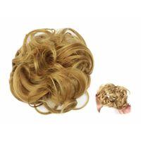 Scrunchie med syntetisk hår - Brun
