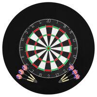 vidaXL Profesjonell dartskive sisal med 6 darts og beskyttelsesring