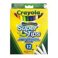 Crayola, 12x Tusjpenner - Super Tips