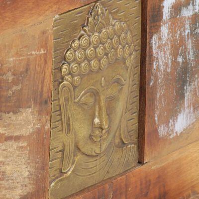 vidaXL Oppbevaringsboks med Buddha-motiver 90x35x45 cm gjenvunnet tre