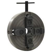 vidaXL Chuck til tredreiebenk 4 bakker M33 gjenge svart 150x63 mm
