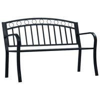 vidaXL Hagebenk 125 cm svart stål