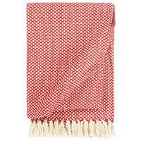 vidaXL Teppe bomull 125x150 cm rød