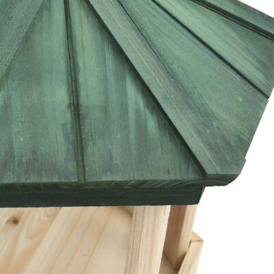 vidaXL Fuglemater åttekantet heltre gran 33x30 cm