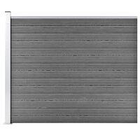 vidaXL Gjerdepanel WPC 175x146 cm grå