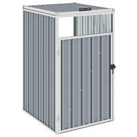 vidaXL Søppeldunkskur grå 72x81x121 cm stål