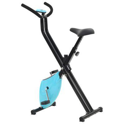 vidaXL Treningssykkel beltemotstand blå X-Bike