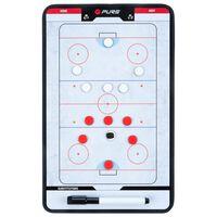 Pure2Improve Dobbeltsidet trenertavle ishockey 35x22 cm P2I100640