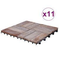 vidaXL Terrassebord 33 stk 30x30 cm gjenvunnet heltre