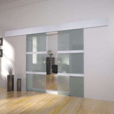 vidaXL Doble Skyvedører Glass