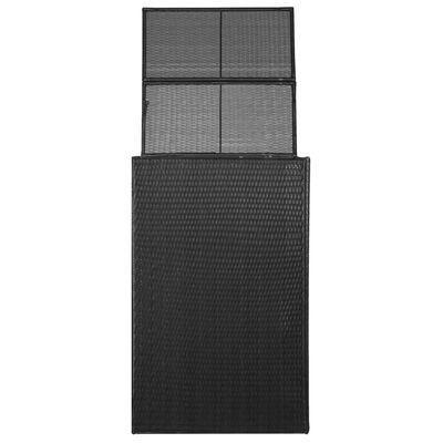 vidaXL Søppeldunkskur enkelt polyrotting 76x78x120 cm svart