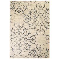 vidaXL Moderne teppe blomsterdesign 160x230 cm beige/blå
