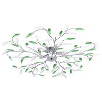 vidaXL Taklampe med akrylblader og armer for 5 E14-lyspærer grønn