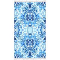 Happiness Strandhåndkle YOGI 100x180 cm blå