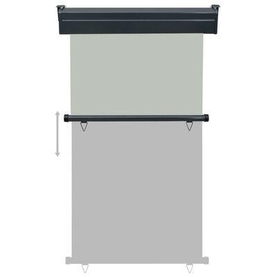 vidaXL Sidemarkise for balkong 100x250 cm grå