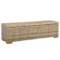 vidaXL Oppbevaringsboks 120 cm kubu-rotting og heltre mango