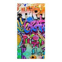 Good Morning Strandhåndkle GRAFFITY 75x150 cm flerfarget
