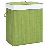 vidaXL Skittentøyskurv bambus grønn 83 L
