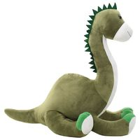 vidaXL Lekebrontosaurus i plysj grønn