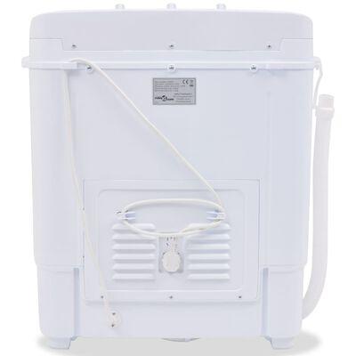 vidaXL Minivaskemaskin tvillingkar 5,6 kg