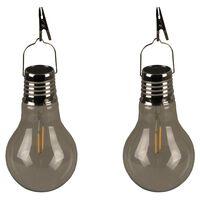 Luxform Soldrevet LED-festlys 2 stk gjennomsiktig