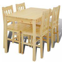 Spisebord med 4 stoler i trehvit