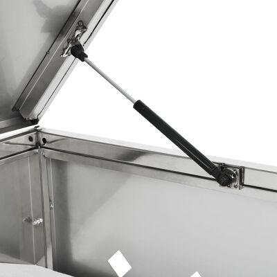 vidaXL Søppeldunkskur trippel 240 L rustfritt stål
