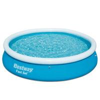 Bestway Oppblåsbart svømmebasseng Fast Set rundt 366x76 cm 57273