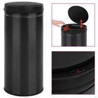 vidaXL Automatisk søppelbøtte med sensor 80 L karbonstål svart