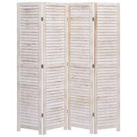 vidaXL Romdeler 4 paneler 140x165 cm tre